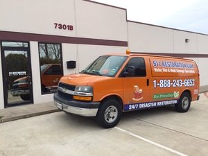 Water Restoration Van at 911 Restoration Headquarters