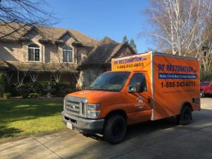 Water Damage Truck At A Home In Fort Myers